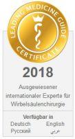 International anerkannter Wirbelsäulen Spezialist in München