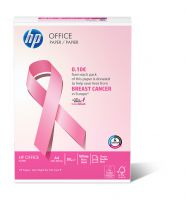 Mit dem pinkfarbenes HP Office Ries engagiert sich IP gegen Brustkrebs