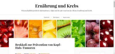 Neuer Blog ernaehrungundkrebs.info