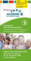 Live in Dresden und online: Talkrunde zu Hoden- und Prostatakrebs und Blut im Urin