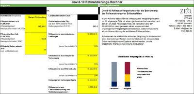 ZEQ-COVID-19 Refinanzierungsrechner