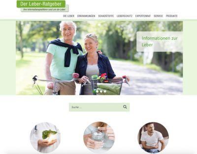 Das Informationsportal www.leber-ratgeber.de bietet gesundheitsbewussten Menschen einen Überblick zum Thema Leber.