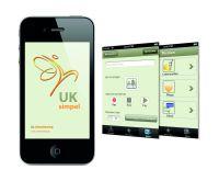 Einfach und praktisch: Die neue iPhone-App UKsimpel unterstützt den Nutzer auch unterwegs bei der Kommunikation
