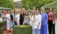 Insgesamt zwölf Auszubildende begannen jetzt Ihre Berufsausbildungen im Klinikum Ingolstadt. Foto: Klinikum Ingolstadt