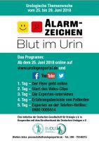 """Noch 6 Tage bis zum Start: Urologische Themenwoche """"Alarmzeichen Blut im Urin"""" vom 25. bis 29. Juni 2018"""