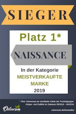 "Oelversum.de Bestseller Ranking 2019 - Sieger in der Katgegorie ""Meistverkaufte Marke"": Naissance"