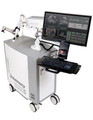 Bei der Behandlung mittels HIFU nach dem Sonablate-500-Prinzip werden Ultraschall und MRT-Aufnahmen erstmals kombiniert.