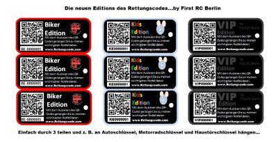 Die neuen Editions des Rettungscodes aus Berlin.