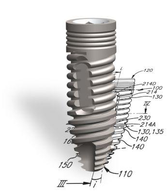 Implantat ESi, mit patentiertem Mehrfachgewinde