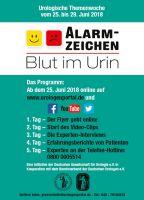 """Vom 25. bis 29. Juni 2018: Urologische Themenwoche """"Alarmzeichen Blut im Urin"""""""