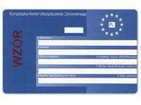 Eine Europäische Krankenversicherungskarte aus Polen.