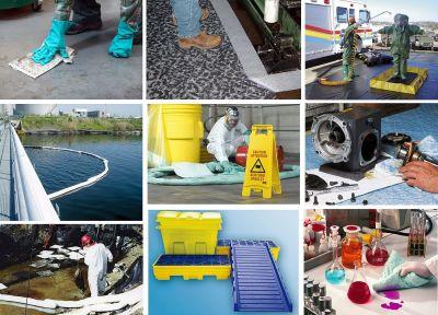 Adsorptionsmittel bei Ölunfällen, Chemikalien und andere Flüssigkeiten