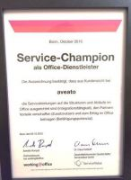 aveato Catering ist Service Champion im Office 2016