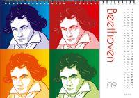 Einer der 33 Komponisten-Kalender: Ganz sicher ist dieser Musik-Kalender auch für Musik-Fans außerhalb Deutschlands interessant.