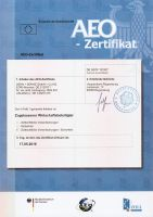 AEO-F Zertifikat für DEHN