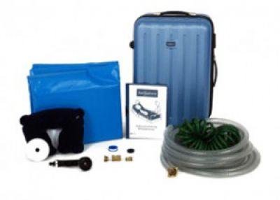 Durchdacht von A-Z. Praktische Aufbewahrung im Schalenkoffer und leichter Auf- und Abbau. Die Bettbadewanne von Sanosphera