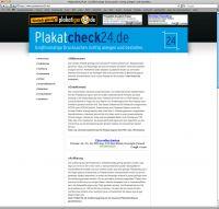 Tipps für Onlinebesteller: So präsentiert sich plakatcheck24.de als Informationsportal für Plakat-Besteller im Internet.