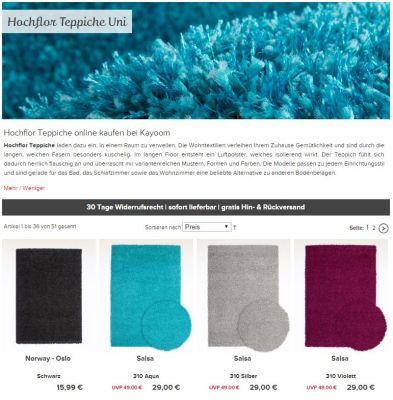 Hochflor Teppiche, Design Teppiche, Kayoom,
