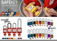 Farbcodierte SafeKey Sicherheitsschlösser für die Industrie