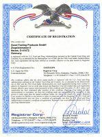 Zertifikat der FDA