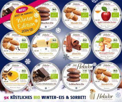 9x leckeres Winter-Eis von Helador