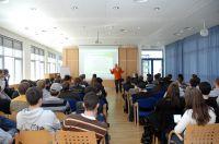 Der Werbetherapeut bei einem Vortrag über Online-PR nach dem O.O.PR-System.