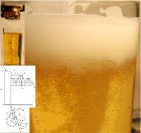 Bierschaumerzeugung mittels Laser