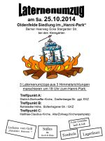Laternenumzug Hamburg Oldenfelde bei Rahlstedt