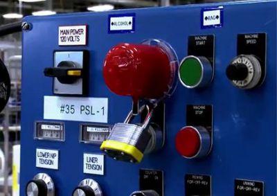 Brady Notaus-Schalter Verriegelung
