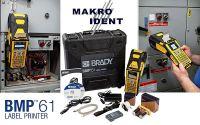 Mobiler Etikettendrucker Brady BMP61 mit großem Etikettensortiment