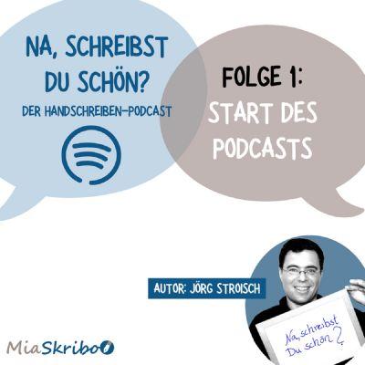 """Der Podcast """"Na, schreibst Du schön?"""" von MiaSkribo startet."""