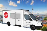 Nerdys Pizza Lieferfahrzeug Lieferservice Lieferdienst mobile Pizzeria