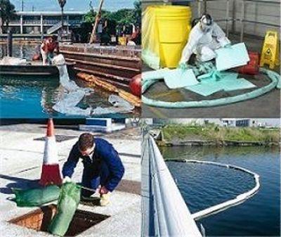 Ölverschmutzung auf Wasseroberflächen beseitigen