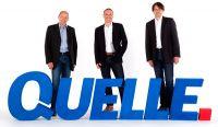 Gelungener QUELLE Neustart - v.l.n.r.: Geschäftsführer Achim Güllmann und Harald Gutschi, sowie Bereichsleiter Reinhard Lengauer