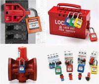 Sicherheitsschlösser in verschiedenen Farben und Schließsystemen