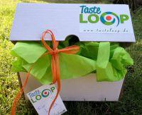 Die vegane TasteLoop Überraschungsbox enthält ausschließlich Produkte mit Inhaltsstoffen ohne tierische Herkunft.