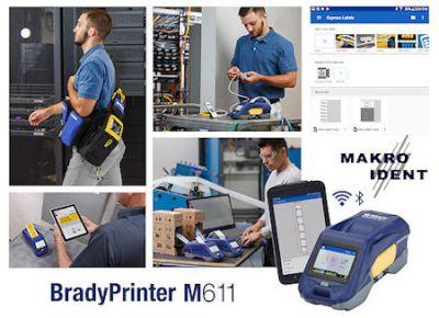 Tragbarer Etikettendrucker BradyPrinter M611 für die Kabel- und Leitungskennzeichnung