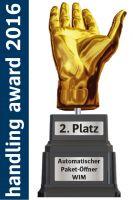 WIM Paket-Öffner wird mit dem diesjährigen Handling Award ausgezeichnet.