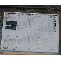 Beginn der Dachbelegung bei einem aktuellen ADLER-Projekt für eine Dachanlage mit 750 kWp und fast 2100 Modulen in Deutschland.