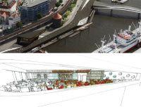 Bildrechte ALEX Überseebrücke - oben: Luftbildmontage©LSBG-ON3Studio, unten: ©Alex