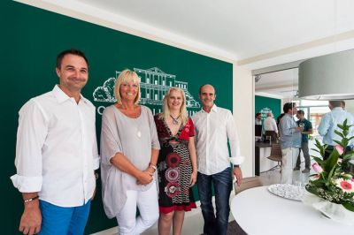 Stolze Gastgeber in Artà (v.l.n.r.): Stefan Suter, Tanja Boaretto, Britta Niemann und Jens Falke