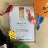 """Auszeichnung als """"TOP Immobilienmakler 2021"""" von FOCUS in Kooperation mit Statist GmbH."""