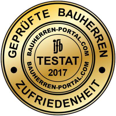 Das Gütesiegel der Qualitätsgemeinschaft BAUHERRENreport GmbH und ifb Institut GmbH