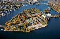 Die Berliner Parkinsel Eiswerder in der Havel aus der Luft betrachtet. Quelle: Prinz von Preussen Grundbesitz AG
