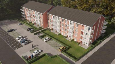 Altersgerecht: Bei diesem Neubauprojekt im niedersächsischen Stolzenau entstehen 63 barrierearme Wohnungen.