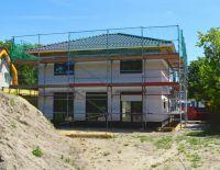 Hier noch im Bau: Die Stadtvilla Berlin in Schulzendorf