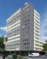 Fassadenentwurf des Hochhauses am Viehofer Platz in Essen nach Umbau