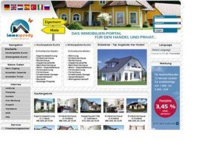 Auf dem Immobilienportal ImmoSpeedy kann in Deutschland, Österreich und der Schweiz nach Immobilien gesucht werden.