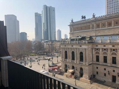 Blick aus dem neuen Satellite Office in Frankfurt