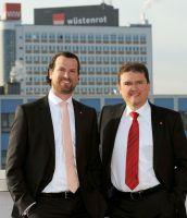 Die Geschäftsführung der Wüstenrot Haus- und Städtebau GmbH: Alexander Heinzmann und Marcus Ziemer.